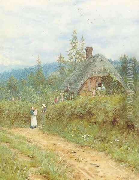 Cottage at Redlynch, Wiltshire Oil Painting - Helen Mary Elizabeth Allingham