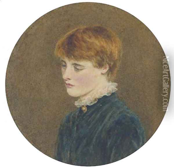 Portrait of a young man Oil Painting - Helen Mary Elizabeth Allingham