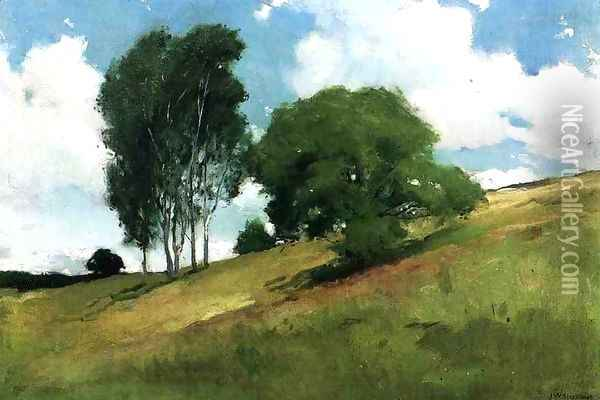 Landscape Painted At Cornish New Hampshire Oil Painting - John White Alexander