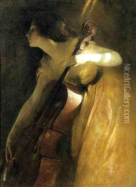 A Ray of Sunlight Oil Painting - John White Alexander