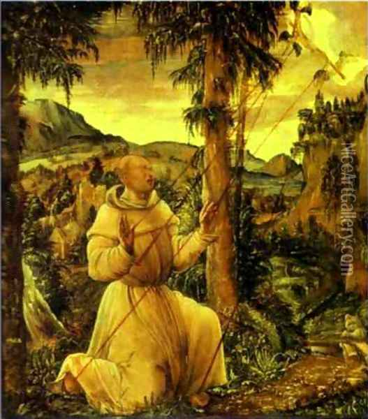 The Stigmatization of St. Francis Oil Painting - Albrecht Altdorfer