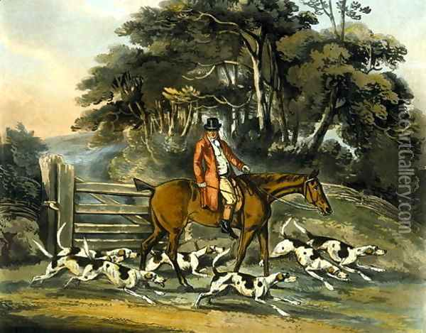 Going Out, from 'Fox Hunting' Oil Painting - Henry Thomas Alken