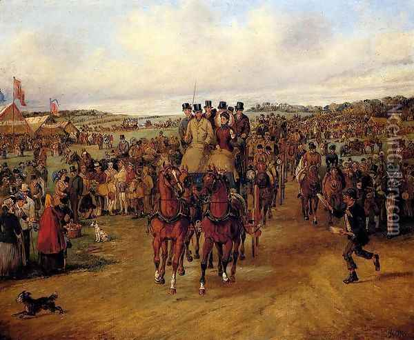 Going To The Derby Oil Painting - Henry Thomas Alken