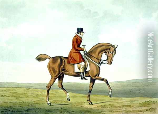 A Meltonian, As He Was, from 'The Meltonians' 1823 Oil Painting - Henry Thomas Alken