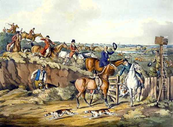Gone Away, from 'Foxhunting' Oil Painting - Henry Thomas Alken