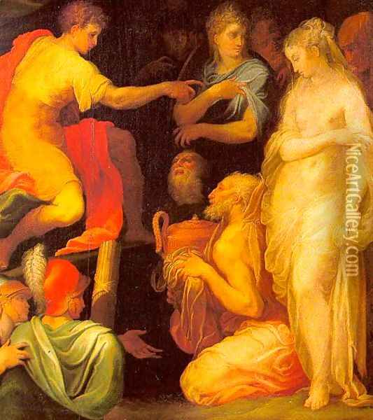 The Continence of Scipio Oil Painting - Niccolo dell' Abbate