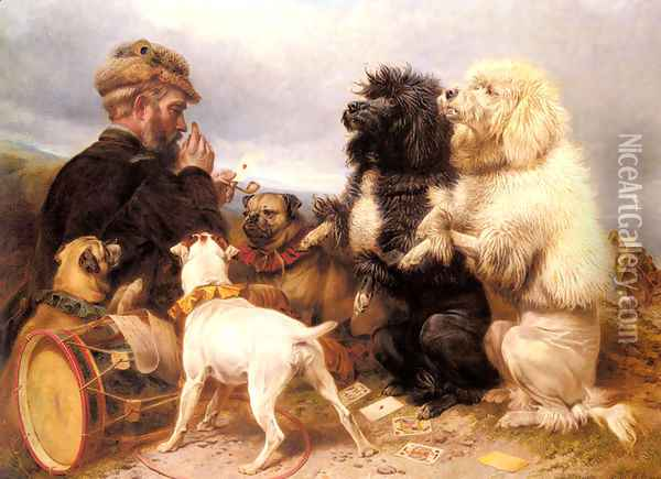 The Lucky Dogs Oil Painting - Richard Ansdell