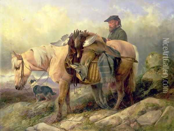 Returning from the Hill, 1868 Oil Painting - Richard Ansdell