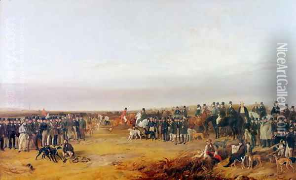 The Waterloo Cup Coursing Meeting, 1840 Oil Painting - Richard Ansdell