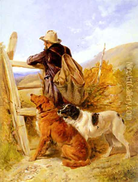 The Gamekeeper Oil Painting - Richard Ansdell