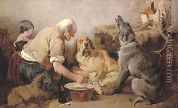 The Wounded Hound Oil Painting - Richard Ansdell