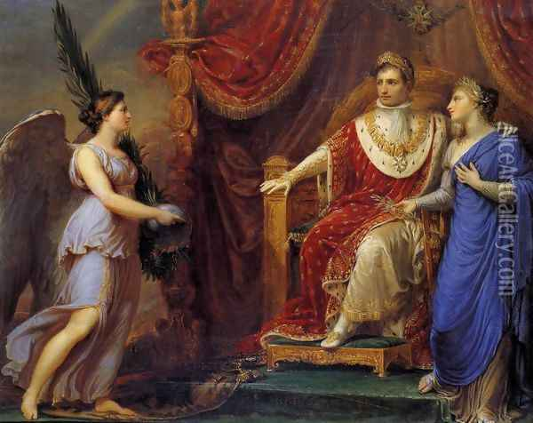 Allegory On The Peace Of Pressburg 1808 Oil Painting - Andrea, the Elder Appiani