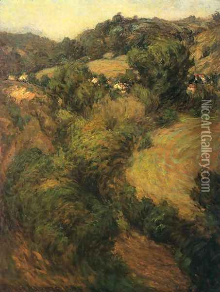 Across the Valley Oil Painting - John Ottis Adams