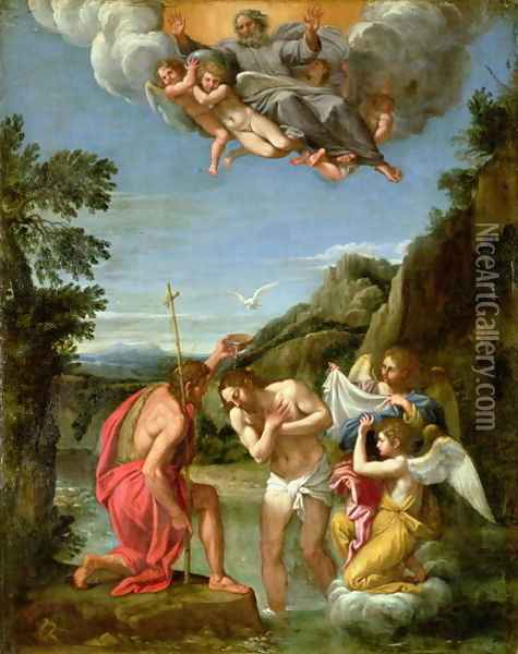 Baptism of Christ Oil Painting - Francesco Albani
