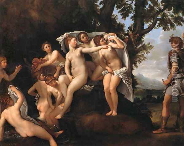 Diana and Actaeon 2 Oil Painting - Francesco Albani