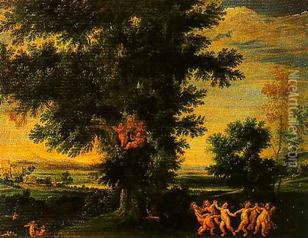 Cupids Dance Oil Painting - Francesco Albani