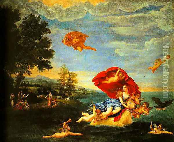 The Rape of Europe Oil Painting - Francesco Albani