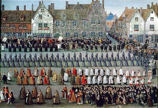 The Triumph of the Archduchess Isabella (2) Oil Painting - Denys Van Alsloot