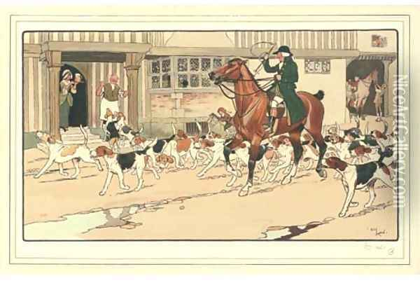 Stopping off at the inn Oil Painting - Cecil Charles Aldin