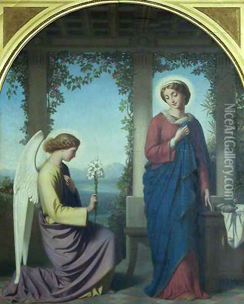 The Annunciation Oil Painting - Eugene-Emmanuel Amaury-Duval