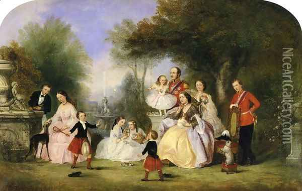 The Royal Family Oil Painting - Henry Andrews