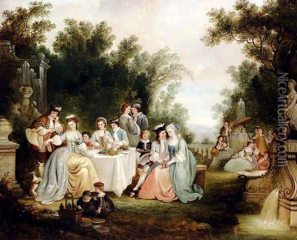 The Wedding Feast Oil Painting - Henry Andrews