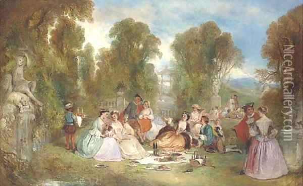 Fete champetre Oil Painting - Henry Andrews