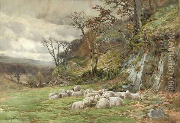 Sheltering from the storm Oil Painting - Charles James Adams