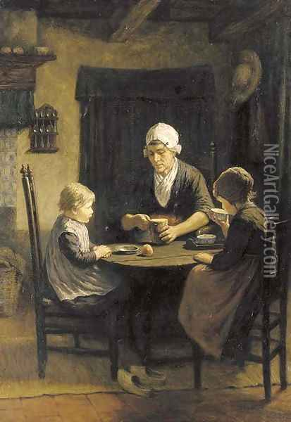 Midday meal Oil Painting - David Adolf Constant Artz