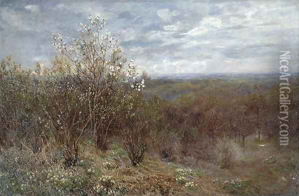 Spring in the Valley Oil Painting - John Clayton Adams
