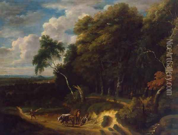 Landscape with a Herd Oil Painting - Jacques d' Arthois