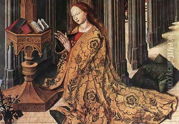 The Annunciation (detail) 1445 Oil Painting - Master of the Aix Annunciation