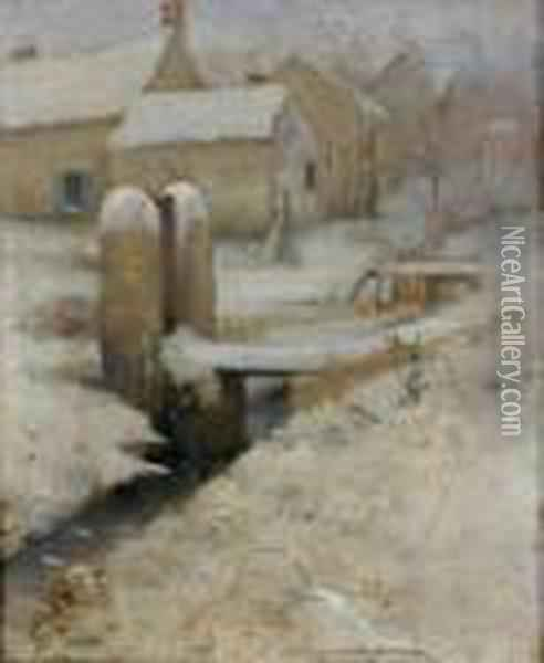 Paysage Hivernal Oil Painting - Fritz Thaulow