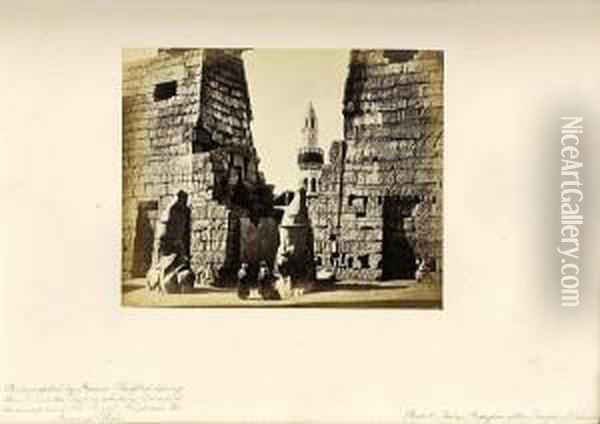 The Holy Land, Egypt, Constantinople, Athens, Etc. Oil Painting - M. Thompson
