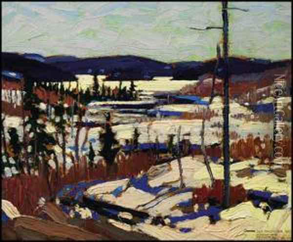 Early Spring, Canoe Lake Oil Painting - Tom Thomson
