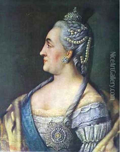 Portrait Of Catherine II The Great 1766 Oil Painting - Aleksei Antropov