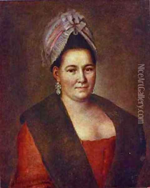 Portrait Of An Unknown Woman 1780s Oil Painting - Aleksei Antropov