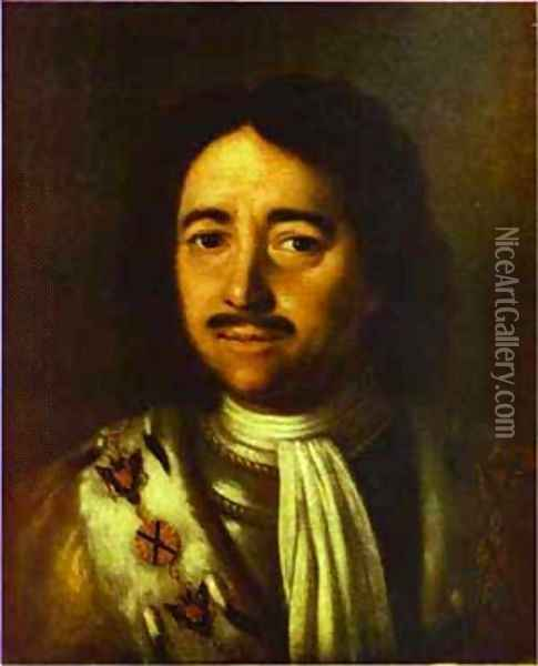 Portrait Of Peter The Great 1772 Oil Painting - Aleksei Antropov