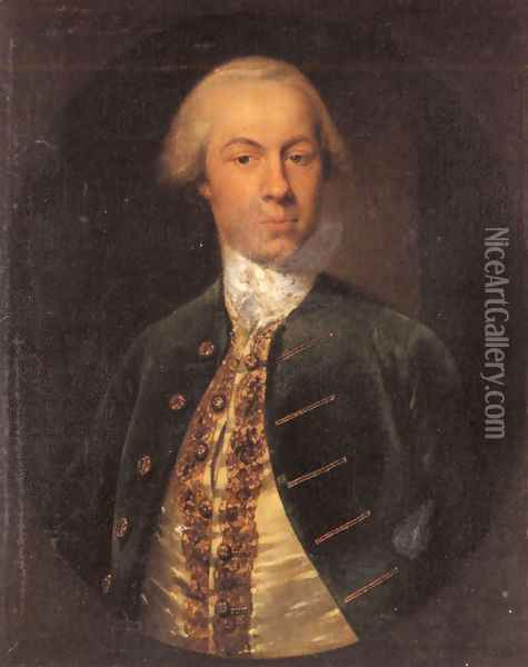 Portrait of General Allanby, Govenor of Santa Lucia Oil Painting - Cosmo Alexander