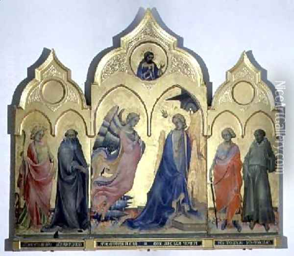 Annunciation with Saints Oil Painting - Fra Angelico (Guido di Pietro)