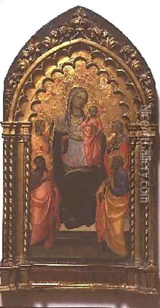 Madonna and Child with Saints 2 Oil Painting - Fra Angelico (Guido di Pietro)