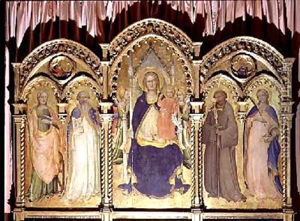 Madonna and Child Enthroned with SS Lucy John Gualberto Oil Painting - Fra Angelico (Guido di Pietro)