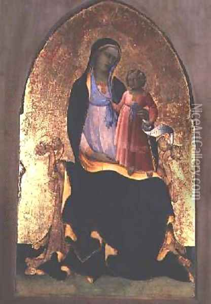 Madonna and Child 1418-20 Oil Painting - Fra Angelico (Guido di Pietro)