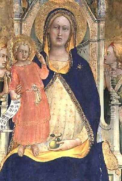 Madonna and Child enthroned with Saints Oil Painting - Fra Angelico (Guido di Pietro)