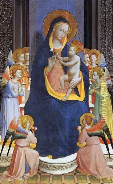 Fiesole Altarpiece Oil Painting - Fra Angelico (Guido di Pietro)