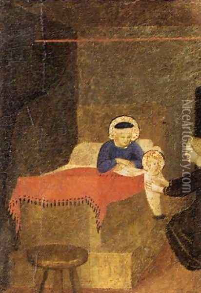 Birth of the Virgin Oil Painting - Fra Angelico (Guido di Pietro)