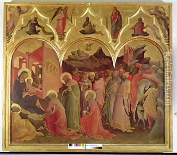 The Adoration of the Magi 1422 Oil Painting - Fra Angelico (Guido di Pietro)