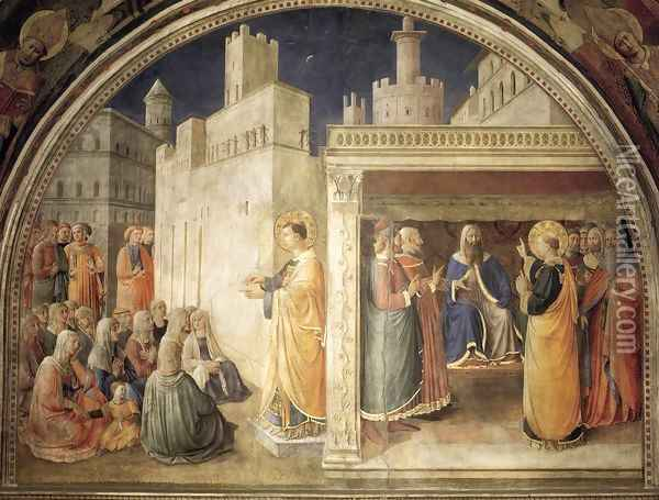 Lunette of the north wall Oil Painting - Fra Angelico (Guido di Pietro)