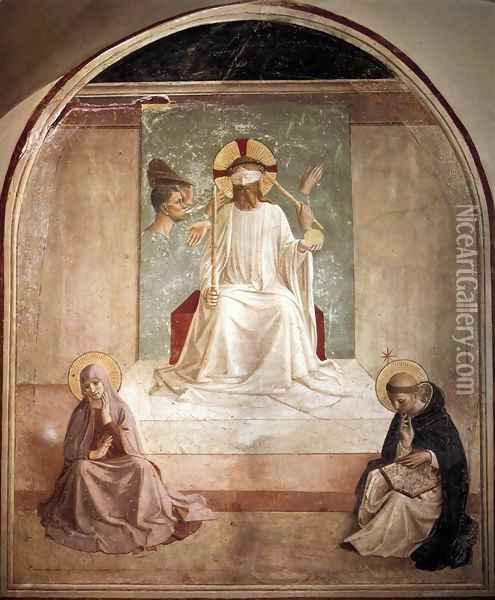 Mocking of Christ Oil Painting - Fra Angelico (Guido di Pietro)