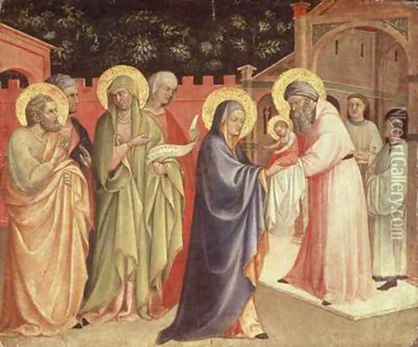 The Presentation in the Temple Oil Painting - Fra Angelico (Guido di Pietro)